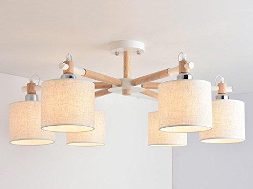 Home mall- Plafonnier en bois Moderne Mode Salon Chambre Cuisine Corridor Salle des enfants Lumière E27 (taille : 75 * 33cm)