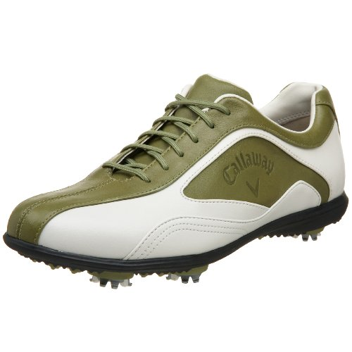 Callaway Women's Batista Golf Shoe,Blanco/Mosstone,5 M US