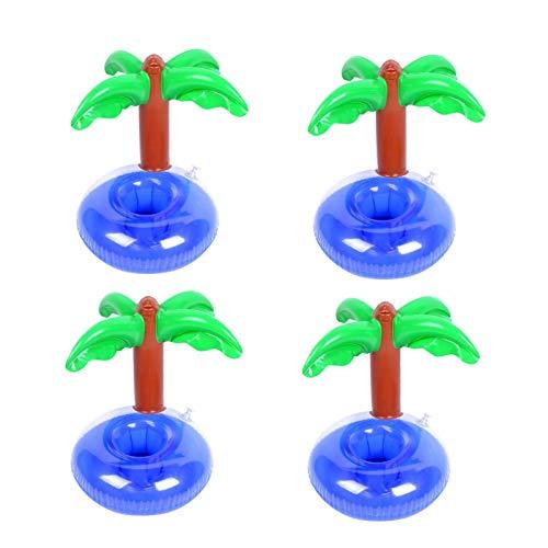 POHOVE 4 soportes inflables para bebidas flotantes de bebida, forma linda, para piscina, para verano, piscina, fiestas, fiestas y niños