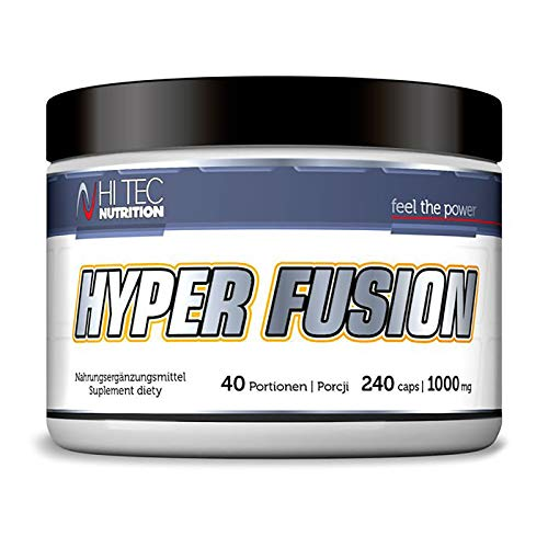Hi Tec Hyperfusion 240 Capsules | Matrix of 10 Creatines | Muscle Mass Growth | Strong Anabolic Pills