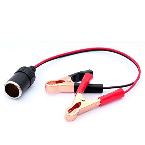 12V KFZ Batterieklemme Clip-on Klemmen Zigarettenanzuender Steckdose Adaptor Buchse