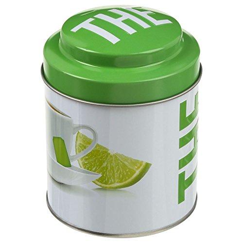 B&W Boîte à thé Ronde Relief - Métal