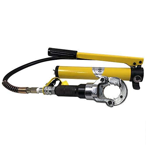 Alicates de prensado de 6 toneladas de fuerza de presión, alicate prensador de 12 mm - 28 mm, alicate de prensa hidráulica de 1 m, manguera hidráulica y sistema hidráulico desmontable