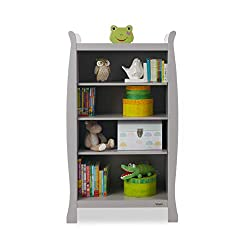 Four deep shelves for storing little ones possessions Extra tall bottom shelf for larger items Top of unit can be used for additional storage Coordinates perfectly with the rest of the stamford range Elegant scroll design to compliment the rest of th...