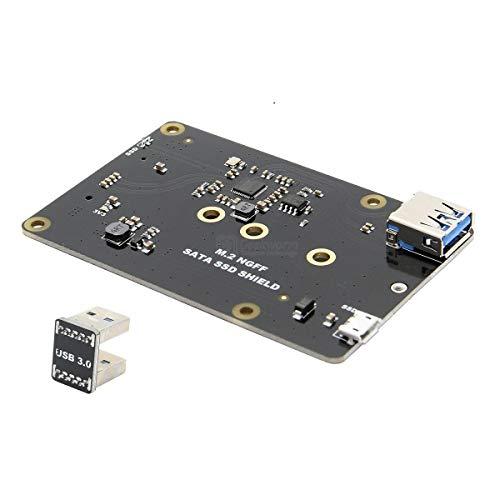 weichuang Electronic Accessories X860 M.2 NGFF 2280/2260/2242/2230 SATA SSD NAS Speichererweiterung Board mit USB 3.0 Jumper für RPi Elektronikzubehör Elektronisches Zubehör