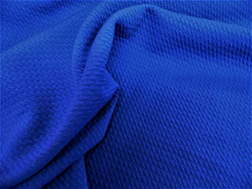 Bullet Textured Liverpool Fabric 4 Way Stretch Royal Blue S12