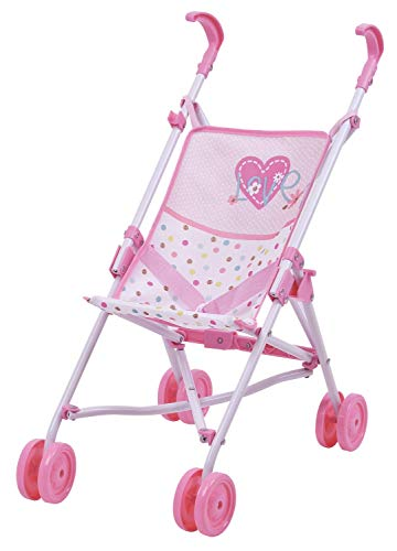 Hauck Love Heart Doll Umbrella Stroller D81023 - Kids Ages 3 and Up - Makes a Great Gift to Carry Baby Doll or a Favorite-Stuffed Animal Friend