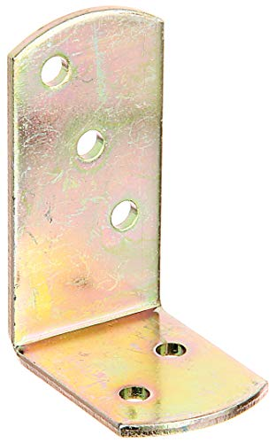 GAH-Alberts 208820 Flechtzaunhalter-Winkel | im Großpack | galvanisch gelb verzinkt | 40 x 60 x 30 mm | 24er Set