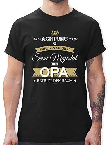 Opa - Seine Majestät der Opa - M - Schwarz - L190 - Tshirt Herren und Männer T-Shirts