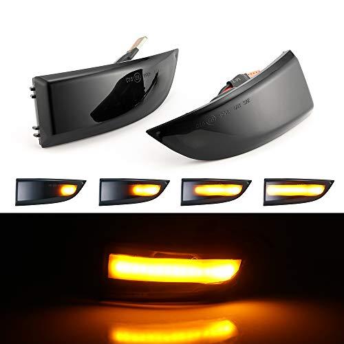 Honeyhouse 2 Stück Rückspiegel Dynamischer Blinker, LED-Lichtanzeige für Renault Megane MK3 08-16, Grand Scenic 3 2009-2015, Scenic 3 2009-2015, Fluence 2019-2015, Latitude 2010-2015