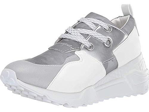 Steve Madden Women's Cliff Shoe, Grey Metallic, 11 M US