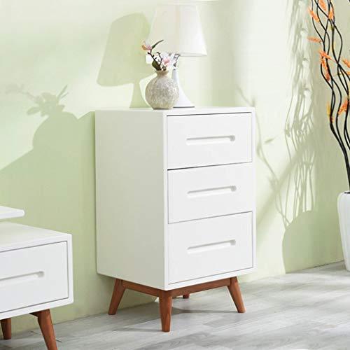 NuitB Slim Commode nachtkastje Bedside End Sofa bijzettafel bureau nachtkastje staande kast massief grenenhout kleur lade K