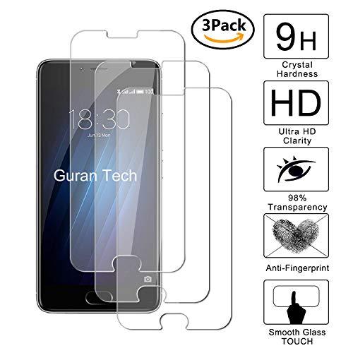 Guran [3 Pezzi] Pellicola Protettiva per Meizu M3S / Meizu M3 Smartphone Ultra Sottile Screen Protector in Vetro Temperato Film Ultra Resistente