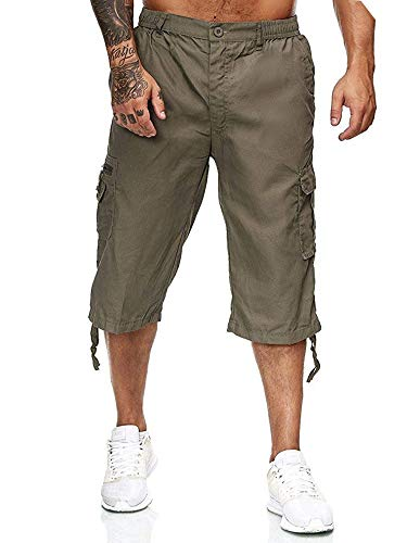 BSbattle 2020 - Pantalones cortos para hombre, de secado rápido, estilo casual, de verano, para hombre - - X-Large
