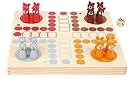 small foot 11336 Ludo Waldtiere aus Holz FSC 100%, Brettspiel für die ganze Familie mit Anleitung und Tierinfos