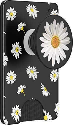 PopSockets PopWallet+: Swappable and Repositionable Wallet - White Daisy