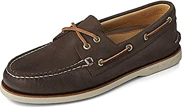 Sperry Men's Gold Cup Authentic Original 2-Eye Boat Shoe, BROWN, 10.5 M US