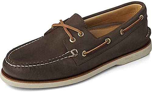 Sperry Men's Gold A/O 2-Eye Roustabout Boat Shoes Brown Size: 9 UK