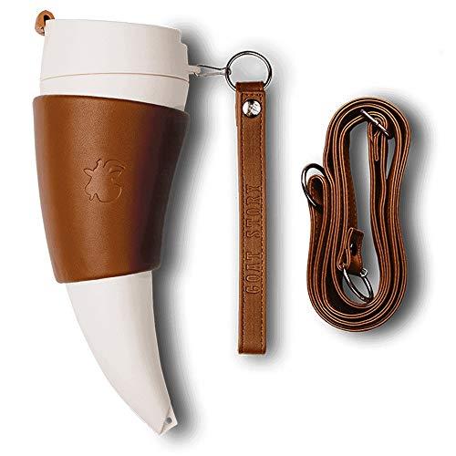 FAGavin Deko Amerikanische Paar Retro Kaffeetasse Persönlichkeit Kreative Croissant Cup 470ml / Leder (Color : White)