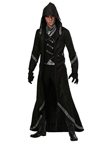 Disfraz de brujo moderno para hombre, talla XS