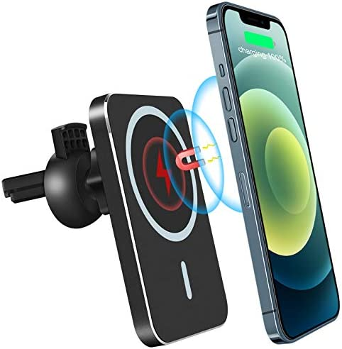 Magnetic Car Wireless Charger 2021 Upgraded Version Topume 15W Qi Fast Charging Car Phone Mount product image