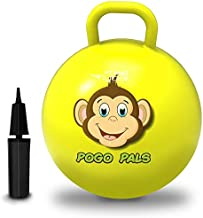 Flybar My First Pogo Pals Hopper Ball for Kids, Bouncy Ball with Handle, Balance Ball for Kids, Ages 6 and up, Air Pump Included (Monkey Yellow, Medium)