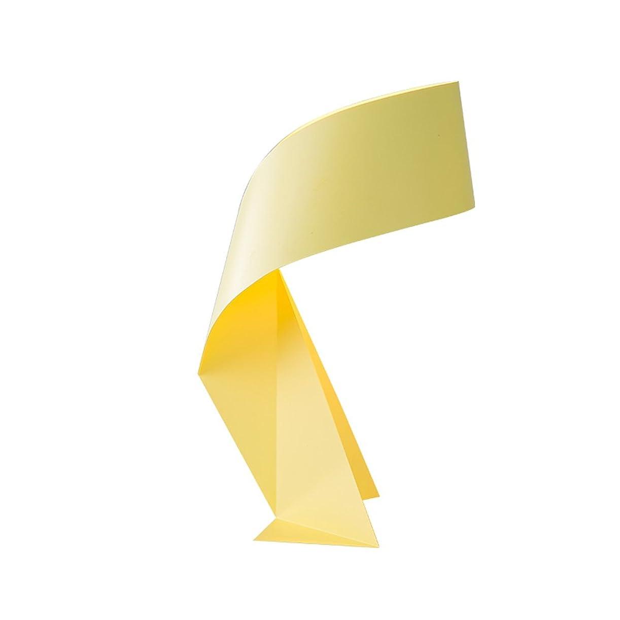 きちんとした対称シーフードLedクリエイティブテーブルランプ、北欧ポストモダン錬鉄照明装飾子供読書ランプヨーロッパのリビングルームのベッドルームベッドサイドスタディテーブルランプ (Color : Yellow, Edition : Ordinary switch)
