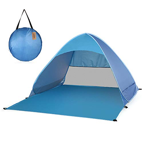 WBHMVMZ Pop Up Tent Beach Automatic Foldable Tent Lightweight Outdoor UV Protection Waterproof Camping Fishing Tent Cabana Sun Shelter for Garden Children Family-Light_blue