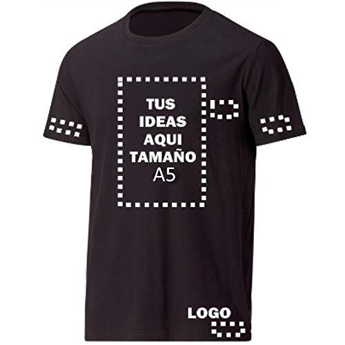 """DISEÑA TU PROPIA CAMISETA: Seleccione el color y la talla. Haga click en """"PERSONALIZAR"""" al lado derecho y luego imprimiremos su camiseta con el texto o imagen de su deseo. Ya sea con jeans, un jersey o una chaqueta la camiseta siempre será una buena ..."""