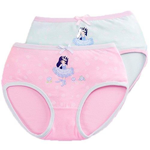 FAIRYRAIN FAIRYRAIN Baby Kleinkind Mädchen Cartoon Boxers Briefs Hipster Shorts Spitze Baumwollunterhosen Unterwäsche 4 Packung/2 Packung5-6 Jahre