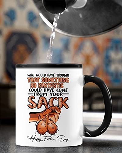 Dear Dad Mug, Balls Mug, Father's Day Mug/ Tumbler 11oz-20oz, Who would have thought that something so fantastic could have come from your sack mug, Funny Father's Day gift for Daddy