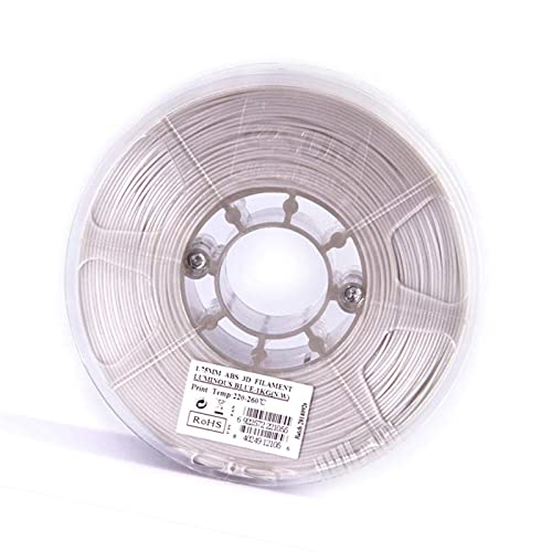 3D Printer Filament 1.75Mm,3D Printing Consumables, ABS Luminous Filament 1Kg, Glowing Magical at Night-,Glowing Blue