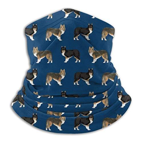 Sheltie Dog - Pañuelo para perro, color negro y marrón
