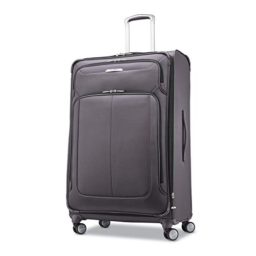 Samsonite Solyte DLX Softside Expandable Luggage with Spinner Wheels, Mineral Grey, Checked-Large 29-Inch