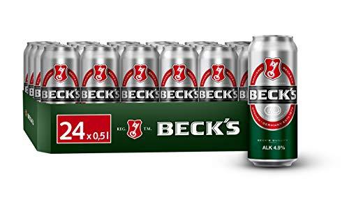 BECK'S Pils Dosenbier, EINWEG (24 x 0.5 l Dose), Pils Bier