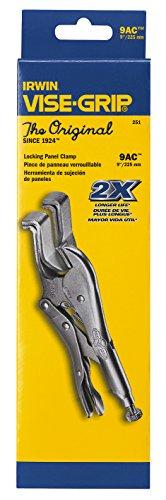 IRWIN Vise-Grip 9AC 9-Inch Locking Panel Clamp, Silver
