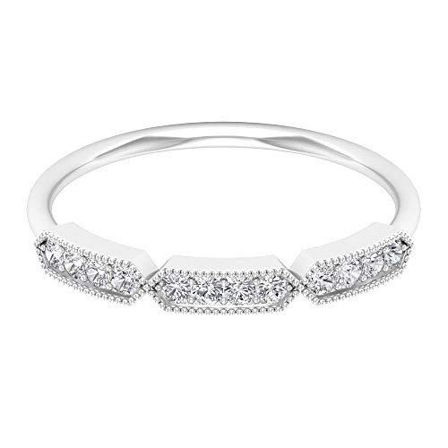 Rosec Jewels 10 quilates oro blanco round-brilliant-shape H-I Diamond
