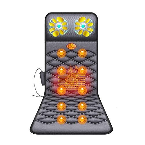 YSDNI Ganzkörper Massagematte Mit Wärmefunktion - Massageauflage 10 Vibrationsmotoren,Therapieheizkissen, Elektrisches Ganzkörpermassagegerät, Nacken Schulter Rücken Massage Mit Wärmefunktion