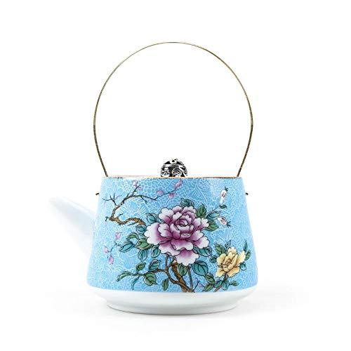 Auténtico jingdezhen porcelana tetera de porcelana exquisito esmalte color tetera master hechos a mano cerámica uware kettle webware 240ml-F 11.5x14cm 240ml