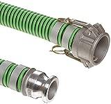 Kanaflex A004-1329-3510 JGB Enterprises 2' x 10' 300 EPDM Green and Black Suction CxE Aluminum Camlocks Banded, 2.5' OD, EPDM