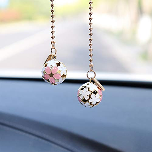 Car Hanging Pendant Sakura Bell Auto Interior Rear view Mirror Car Charm Ornament (SakuraBell)