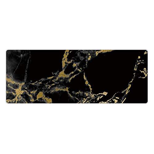 Partage 1 x Mauspad in Marmor-Optik, bequemes Mauspad, superfeine Faser, rutschfeste Unterseite, Farbe wie abgebildet., 900 * 400 * 3mm lock edge