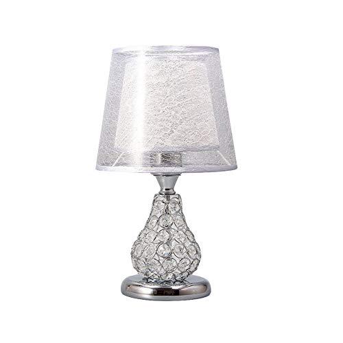 ♪ Tafellamp van kristal, voor slaapkamer, nachtkastje in Europese landelijke stijl, moderne decoratie, klein bedlampje, bruiloft, voor het verplaatsen van de tafellamp, knoopschakelaar, 36 cm, creatief.