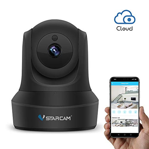 WiFi IP Camera, VStarcam 1080P PTZ Wireless Surveillance Camera, Night Vision Motion Detection Remote Baby or Pet Cam for Indoor, Two-Way Audio and Multi-Users Home Security Camera with Cloud Service