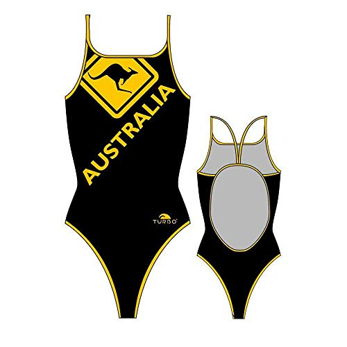 TurboTronic Damen Australia Kangaroo Signal Bikini-Unterteile, schwarz/gelb, S