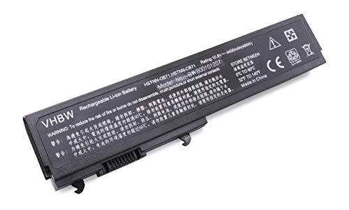 vhbw Batterie Compatible avec HP Pavilion dv3000, dv3000/CT, dv3001TX, dv3002TX, dv3003TX, dv3004TX Laptop (4400mAh, 10,8V, Li-ION, Noir)