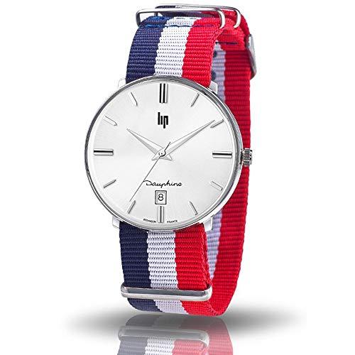 Lip Homme Uhr Analogique QUARTZ mit Nylon Armband 671439