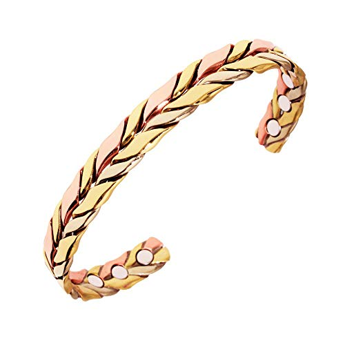 Fantastic Deal! Pure Copper Magnetic Therapy Bracelet for Arthritis, Rheumatoid Arthritis, RSI, Migr...