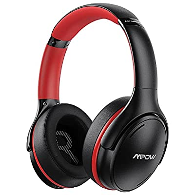 Active Noise Cancelling Headphones, Mpow Bluetooth 5.0 Headphones Over Ear with CVC 8.0 Mic, Hi-Fi Deep Bass, 35H Playtime, Foldable Wired/Wireless Headset, Adult/Teens Work Travel Online Class from Mpow