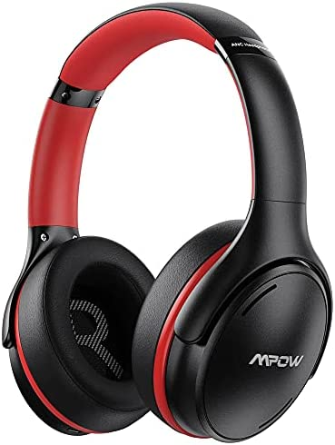 Active Noise Cancelling Headphones, Mpow Bluetooth 5.0 Headphones Over Ear with CVC 8.0 Mic, Hi-Fi Deep Bass, 35H Playtime, Foldable Wired/Wireless Headset, Adult/Teens Work Travel Online Class